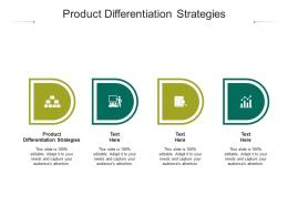 Product Differentiation Strategies Ppt Powerpoint Presentation Outline Skills Cpb