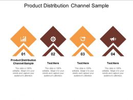 Product Distribution Channel Sample Ppt Powerpoint Presentation Visual Aids Background Images Cpb