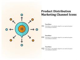 Product Distribution Marketing Channel Icons
