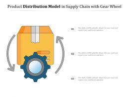 Product Distribution Model In Supply Chain With Gear Wheel