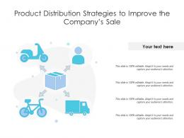 Product Distribution Strategies To Improve The Companys Sale
