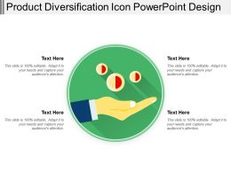 Product Diversification Icon Powerpoint Design