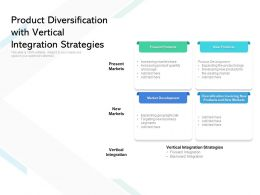 Product Diversification With Vertical Integration Strategies