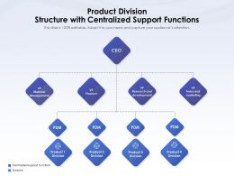 Product Division Structure With Centralized Support Functions