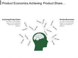Product Economics Achieving Product Share Customer Economies Dominant Exchange