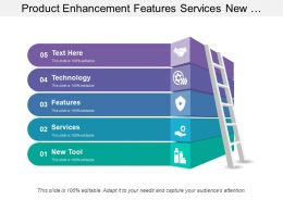 Product Enhancement Features Services New Tool With Ladder Icon