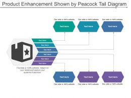 Product Enhancement Shown By Peacock Tail Diagram
