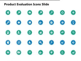 Product Evaluation Icons Slide Mind Map Ppt Powerpoint Presentation Show