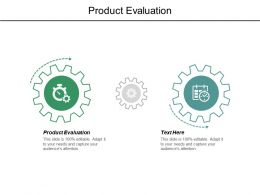 Product Evaluation Ppt Powerpoint Presentation Layouts Background Image Cpb