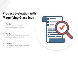 Product Evaluation With Magnifying Glass Icon