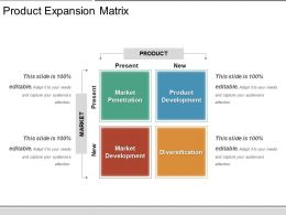 Product Expansion Matrix Ppt Examples