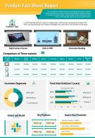 Product Fact Sheet Report Presentation Infographic PPT PDF Document