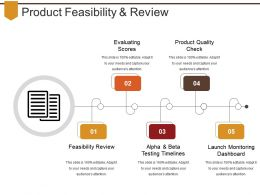 Product Feasibility And Review Powerpoint Slide Images