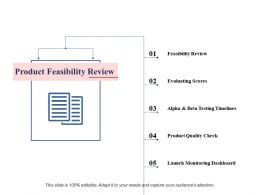 Product Feasibility Review Ppt Professional Design Inspiration