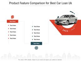 Product Feature Comparison For Best Car Loan Uk 2 Infographic Template