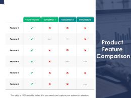 Product Feature Comparison Planning A771 Ppt Powerpoint Presentation Model Graphic Tips