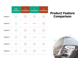 Product Feature Comparison Table Ppt Powerpoint Presentation Inspiration Graphics