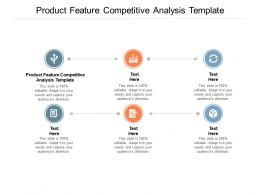 Product Feature Competitive Analysis Template Ppt Powerpoint Presentation Format Ideas Cpb