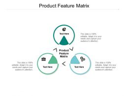 Product Feature Matrix Ppt Powerpoint Presentation Model Samples Cpb