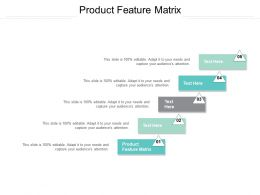 Product Feature Matrix Ppt Powerpoint Presentation Professional Model Cpb