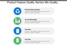 Product Feature Quality Service Mix Quality Appropriateness Customer