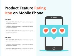 Product Feature Rating Icon On Mobile Phone