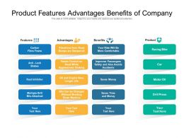 Product Features Advantages Benefits Of Company