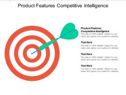 Product Features Competitive Intelligence Ppt Powerpoint Presentation Ideas Mockup Cpb