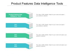 Product Features Data Intelligence Tools Ppt Powerpoint Presentation Portfolio Layout Cpb