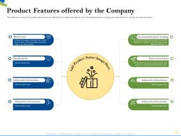 Product Features Offered By The Company Pure Cotton Ppt Powerpoint Presentation Inspiration Themes