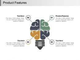 Product Features Ppt Powerpoint Presentation Infographic Template Guidelines Cpb
