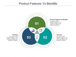 Product Features Vs Benefits Ppt Powerpoint Presentation Infographic Template Cpb