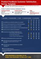 Product Feedback Customer Satisfaction Survey Template Presentation Report Infographic PPT PDF Document