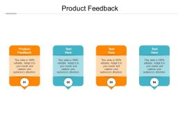 Product Feedback Ppt Powerpoint Presentation Show Smartart Cpb
