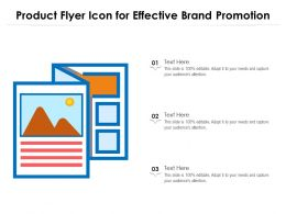Product Flyer Icon For Effective Brand Promotion