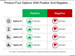 Product Four Options With Positive And Negative Points