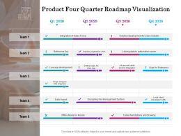 Product Four Quarter Roadmap Visualization