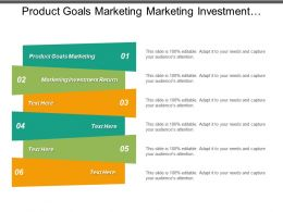 Product Goals Marketing Marketing Investment Return Roi Marketing Strategies Cpb