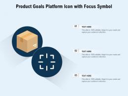 Product Goals Platform Icon With Focus Symbol
