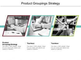 Product Groupings Strategy Ppt Powerpoint Presentation Ideas Samples Cpb