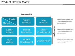 Product Growth Matrix Ppt Example Professional