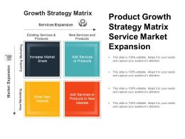 Product Growth Strategy Matrix Service Market Expansion
