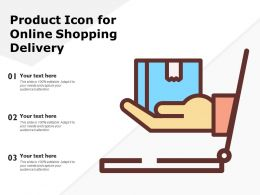 Product Icon For Online Shopping Delivery