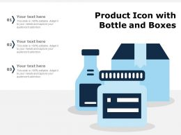 Product Icon With Bottle And Boxes