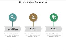 Product Idea Generation Ppt Powerpoint Presentation Icon Pictures Cpb