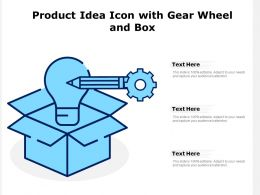 Product Idea Icon With Gear Wheel And Box