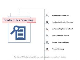 Product Idea Screening Ppt Professional Clipart Images