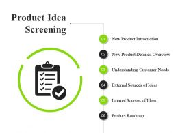 Product Idea Screening Ppt Sample File