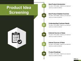 Product Idea Screening Presentation Images