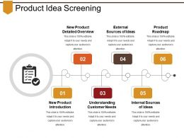 Product Idea Screening Sample Ppt Files